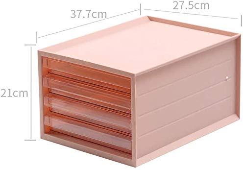 Ablageschränke Bürobedarf kosmetisches Aufbewahrungsbehälter Mehrschichtige Transparent Schublade Aktenschrank rechts Compartment verschiedene Einzelteile aus ABS-Kunststoff - 27.5x37.7x21cm Bürobedar