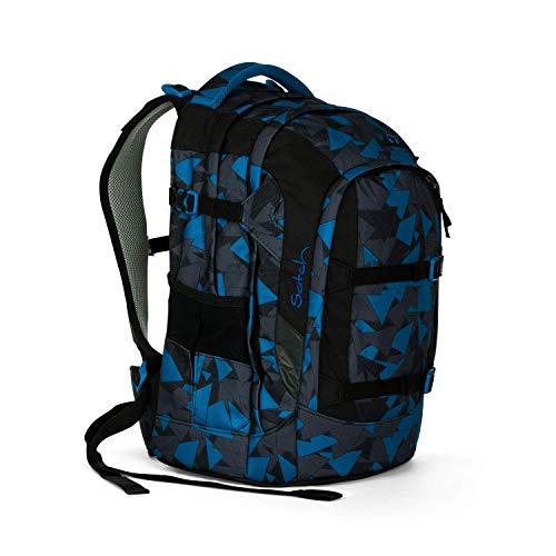 satch Pack ergonomischer Schulrucksack für Mädchen und Jungen - Blue Triangle