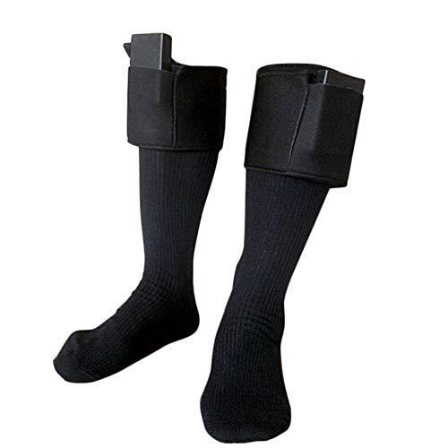 Preisvergleich Produktbild Pournei Warmer Upgraded beheizte Socken,  doppellagige Thermo-Baumwoll-beheizte Socken,  Batteriebetriebene Zehenwärmer Fußwärmer,  beheizte Socken für Winter Outdoor Sport