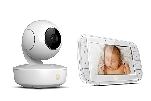 Motorola MBP50 Video Baby Monitor with Large 5-inch Full Colour Curved Parent Display Unit