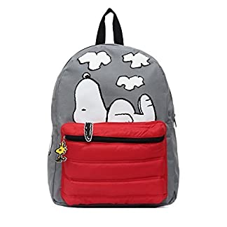 41QXW3M85cL. SS324  - Peanuts Snoopy on Doghouse 16 Backpack by