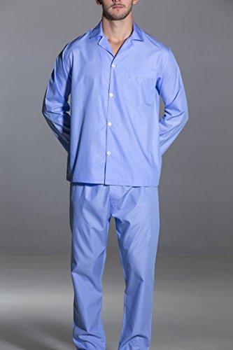 Pigiama-Olimpia-uomo-tessuto-camicia-tinta-unita