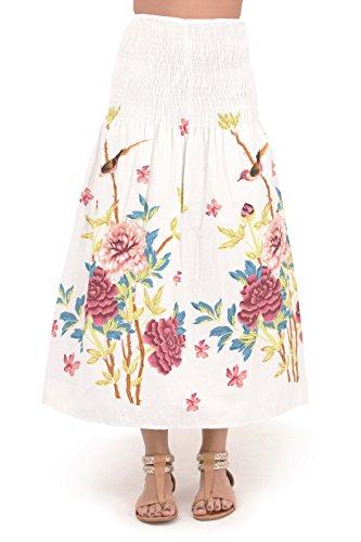Pistachio - Robe Femme Eté 3-en-1 Motif Floral Coton, Bleu 2, S (EU 36-38) Rose Floral 2
