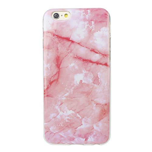 iPhone 6 Cover, Custodia iPhone 6S, Moon mood Ultra-Thin Slim Soft Gel TPU Silicone Cover per iPhone 6S Colorful Marble Texture Case Bumper Skin Scratch Resistant Posteriore Morbido Caso Custodie Cove Marble -5