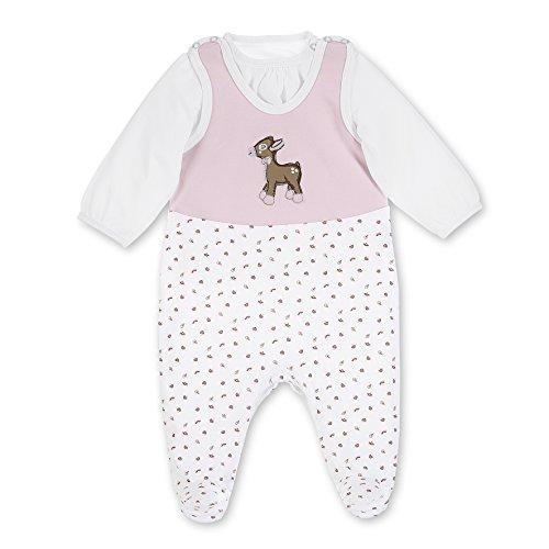 Sterntaler Baby-Mädchen Strampler-Set Jersey Waldis Ro, Weiß (Rosa 702), - Glitzer-strampelanzug