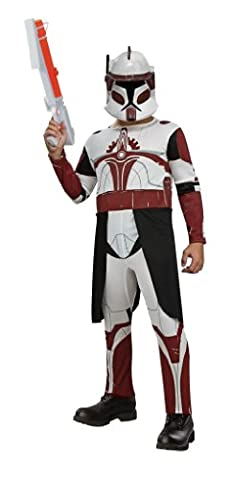 Rubie's Costume Co Star Wars Clone Wars Clone Trooper Child's Commander Fox Costume, Small