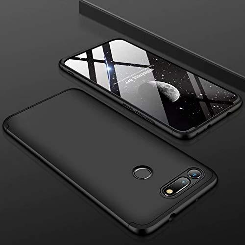 MYLB Funda Samsung Galaxy J7 Duo, protección Ultrafina del Cuerpo de 360 Grados [3 en 1] Estuche rígido PC Desmontable, Adecuado para Samsung Galaxy J7 Duo (Negro)