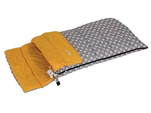 bertoni-bimbo-junior-150-bear-saco-de-dormir-infantil-para-acampada-o-casa-gris-muneco-tamano-unico