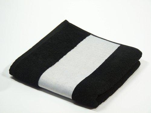 Duschtuch 70x140 Best Print zum Besticken und Bedrucken -schwarz