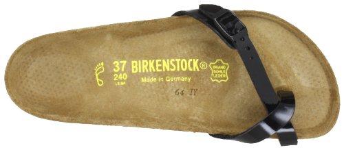 Birkenstock piazza 017191, Infradito donna Nero (Schwarz (schwarz lack))