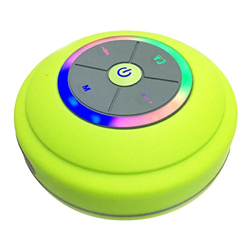 Bluetooth Lautsprecher Mini tragbare Stereo Bluetooth Lautsprecher Drahtlos Wireless Speaker mit Bass und Lichteffekt LED Beleuchtet Fernbedienung TF Card Steckdose AUX Microphone