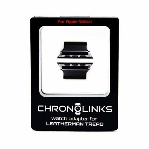 ChronoLinks Uhradapter schwarz für Leatherman TREAD und Apple Watch (42mm)
