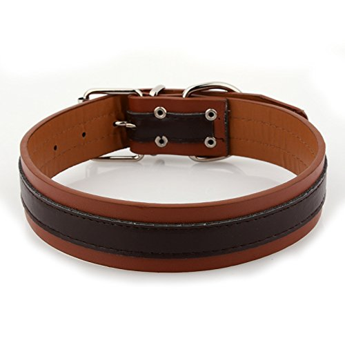 Haustierhalsband, Inländische Traktion Hundehalsband Großen Hundehalsband Doppel-Pu-Hals Ärmel -