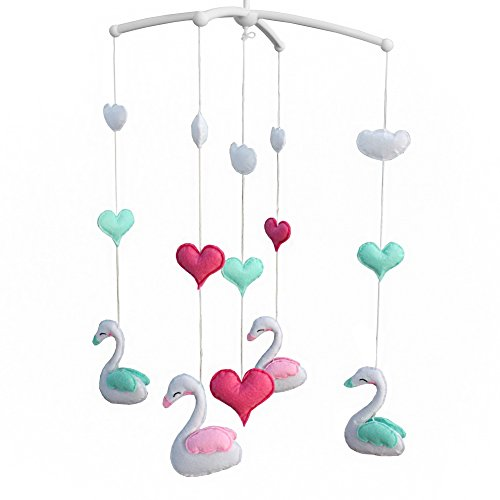 [Cute Swan] Rotatable Musical Mobile for Baby Crib / Stroller