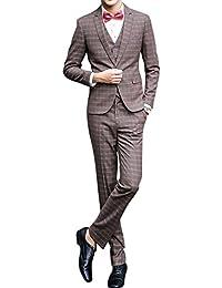 Traje para hombre 3 piezas chaqueta chaleco pantalón traje al estilo occidental
