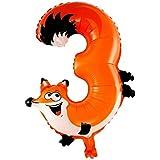 HuntGold Globo de la hoja globo del cumpleaños número lámina de helio del globo formulario número 19 Pulgadas