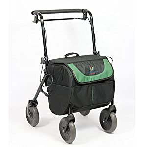 ROLLATOR with 4 Wheels and Brake, Seat and Transport Bag, Foldable and Adjustable | 2 in 1: Rollator and Shopping Trolley