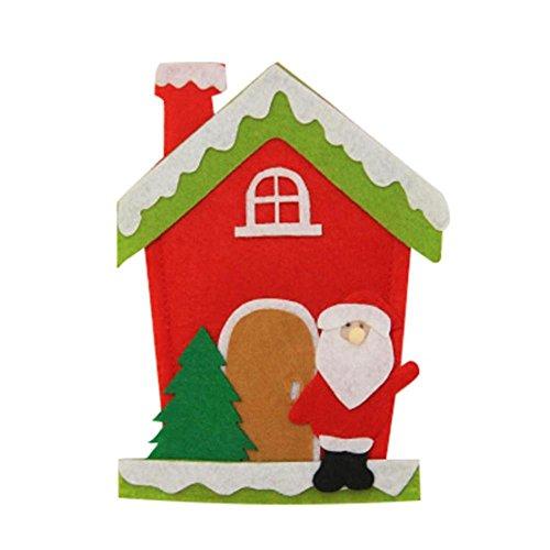 Noel Kostüm Pere De (rameng Brillenträger Weihnachten Besteckhalter Messer Gabel Löffel in Form von Kostüm Weihnachten Décor-Tisch Père)