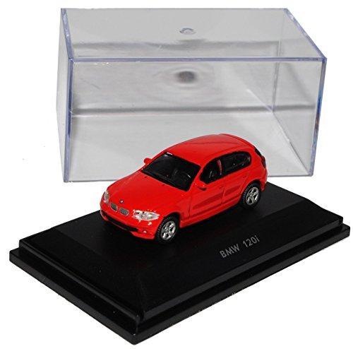 Preisvergleich Produktbild BMW 1er E87 5 Türer Rot 2004-2011 H0 1/87 Welly Modell Auto mit individiuellem Wunschkennzeichen
