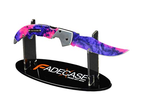 fadecase Falchion Elite + Universal Stand - Real Steel Knives from Counter Strike Global Offensive with Your Favorite Skins in CSGO (Chroma Doppler) -