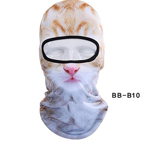 Mask 3d Cat Dog Animal Balaclava Bicycle Bike Snowboard Party Liner Winter Hat Warmer Full Face Women Men B
