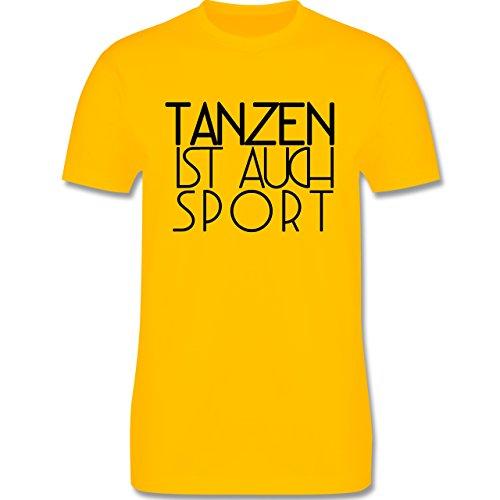 Statement Shirts - Tanzen ist auch Sport - Herren Premium T-Shirt Gelb