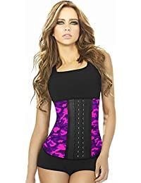 Ann Chery - 2023 Edicion Camuflada Mujer 3 Broches Faja Moldeadora Latex Cinturilla Deportiva Prenda de Control Rosado XL 38…