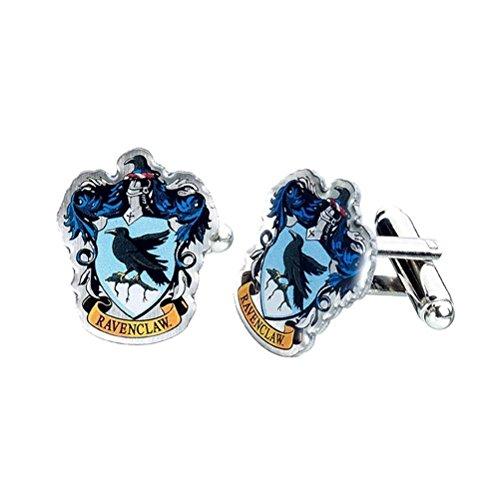 Offizieller Harry Potter Hogwarts Ravenclaw Wappen Silber vergoldete Manschettenknöpfe - Boxed