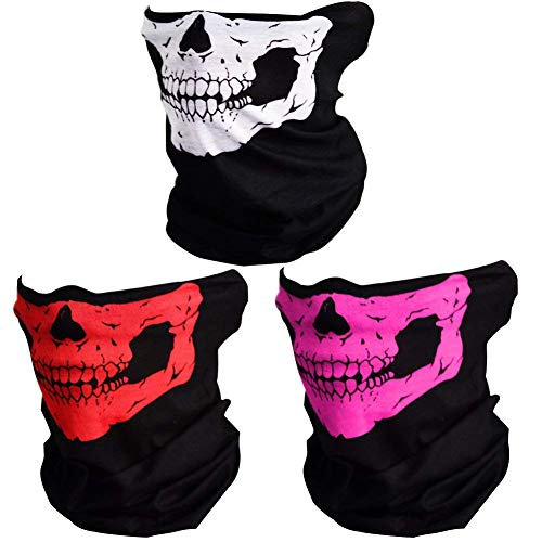 Gshy Skelettmasken Bandanas Multifunktionstuch Stirnband Outdoor Nahtlose Multifunktions-Magic -