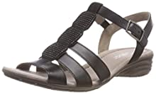 Gabor Shoes Gabor Casual, Sandales Bride Cheville Femme, Noir (Schwarz), 38 EU