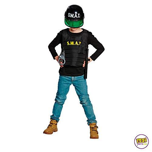 Mottoland Kinder Kostüm SWAT Junge Spezialeinheit Fasching Karneval Verkleiden: Größe: 164 (Swat Kostüm Jungen)