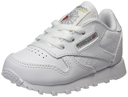 Reebok 50192 Classic Leather, Scarpe da Trail Running Bambini, Avorio ( White 1), 24 EU