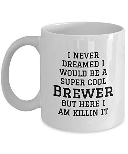 ChGuangm Brewer Gifts - Gift for Brewers for him, her, Female, Male, dad, Mum, Friend, Colleague - Coffee Mug Tea Cup for Christmas Birthday Present for Any Occassion -