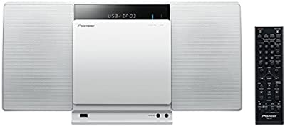Pioneer X-SMC01BT-W - Microcadena (20 W, Bluetooth, USB, LCD, iPad, iPhone, iPod, mando a distancia) color blanco