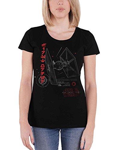 Star Wars T Shirt The Last Jedi T-0926 Tie Fighter offiziell damen Skinny Fit