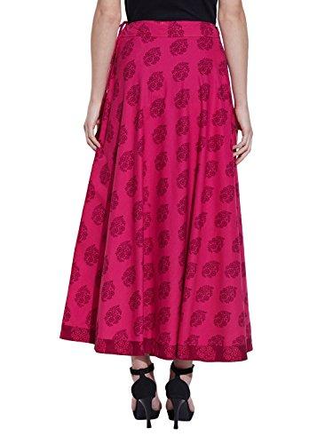 Maxi Rock Lang Knöchel Länge Zigeuner Baumwolle Kleid Sommer Color17