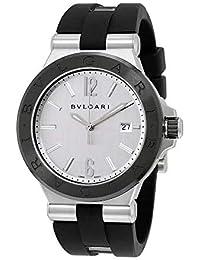 6b21f20f86f Bvlgari diagono plata Dial Automático Mens Reloj 102252