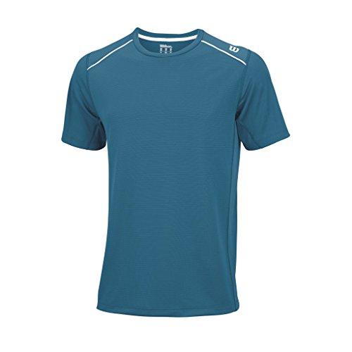 Wilson, Maglietta a maniche corte Uomo, Blu (Ultramarine/White), XL