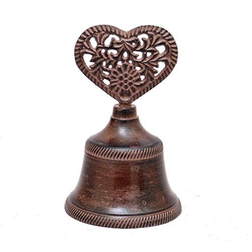 Dibor Herzförmige Glocke aus Gusseisen–Ideal zum 6. Hochzeitstag Geschenk–h9.5X-D6cm