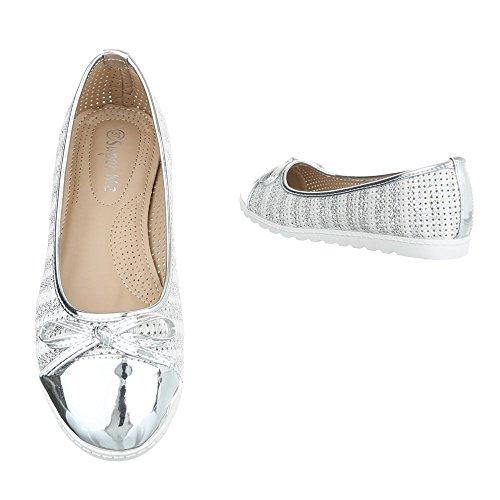 Ital-Design , Ballerines pour femme Silber 11-2
