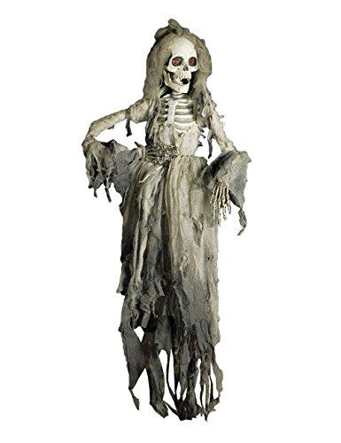 elettbraut Halloween-Deko Weiss-Grau 150cm Einheitsgröße (Preiswerte Halloween Dekoration)