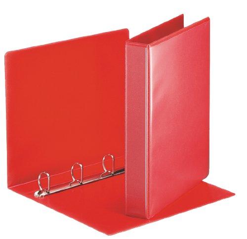 Esselte 49713 Ringbuch Präsentation, mit Taschen, A4, PP, 4 Ringe, 30 mm, rot