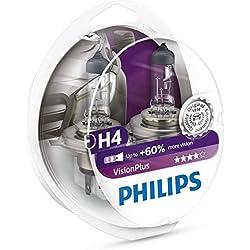 Philips 12342VPS2 Lot de 2 ampoules de phare VisionPlus + 60 % H4