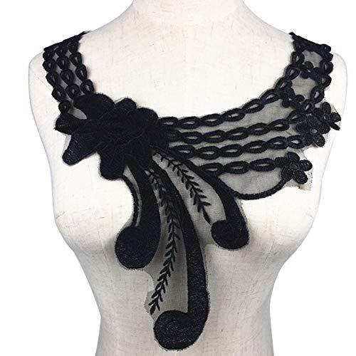 Lsgepavilion Elegante Stickerei Spitze Ausschnitt Kragen Trim DIY Nähen Applikation für Hochzeit Kleidung Dekoration