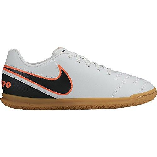 Nike Tiempo Rio Iii IC, Chaussures de Football Compétition Mixte Enfant Weiß (Pure Platinum/Black-Hypr Orng 001)