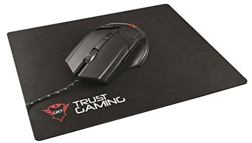 Trust GXT 782 - Pack de ratón de 4800 ppp y alfombrilla, negro