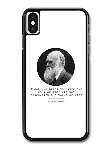 Value of Life Charles Darwin Quote Origin of Species Evolution Atheist hülle für iPhone X