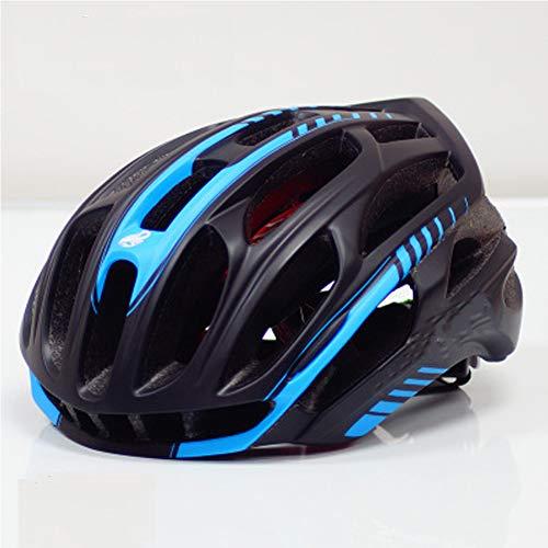 Outdoor Ciclismo Mountain Bike Sport casco - Un pezzo unico ad alta densità EPS casco leggero - traspirante confortevole sicurezza Fashion casco - blu/rosso/bianco/nero/giallo, 10, M