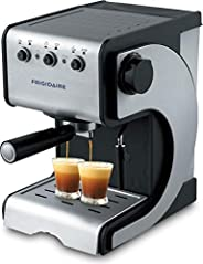 Frigidaire 220-240V Espresso and Cappuccino Maker with Stainless Steel Decoration Panel, FD7189, Silver, 1 Yea