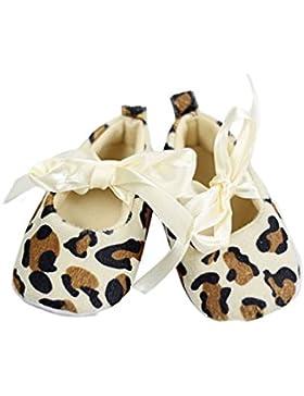 Zapatos - SODIAL(R)Zapatos suaves de caminar de patron de leopardo para bebe recien nacido(12-18 meses)